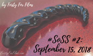A Fucking Sculptures Corkscrew sits on a glittery red surface. There's text over the image reading #SoSS #2: September 15, 2018 by Feisty Fox Films