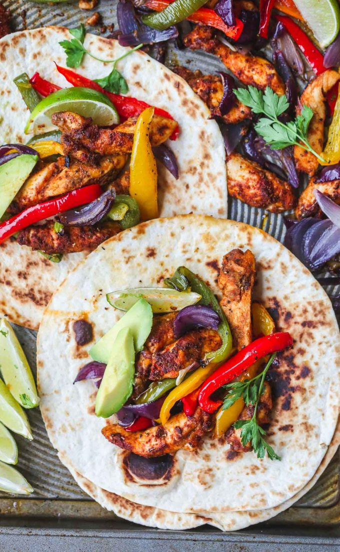 Baked Chicken Fajitas via Little Sunny Kitchen