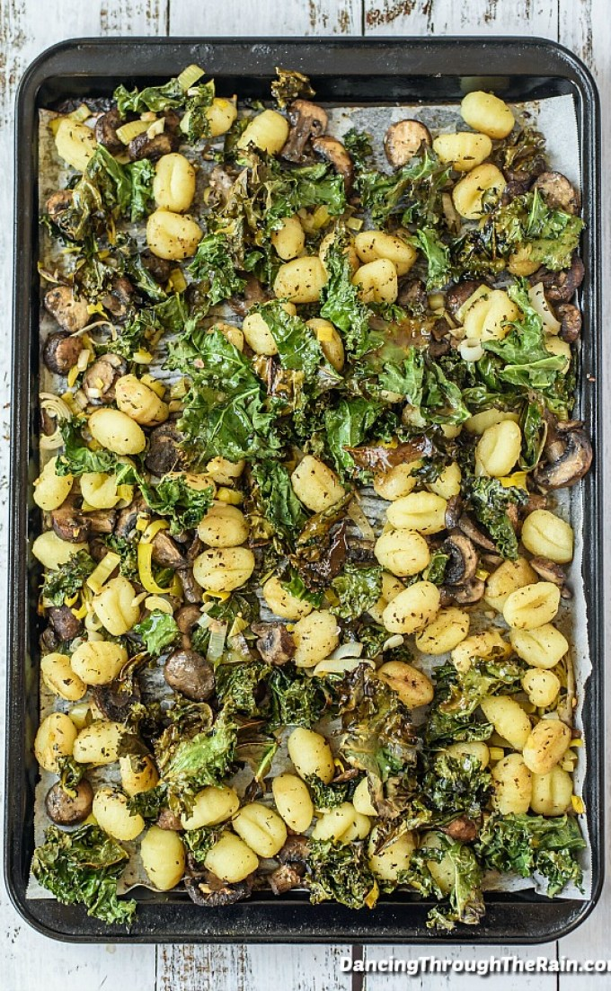 Sheet Pan Gnocchi w/Vegetables via Dancing Through The Rain