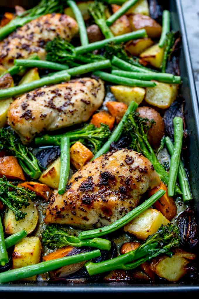 Honey Mustard Chicken w/Vegetables via Kitchen Sanctuary