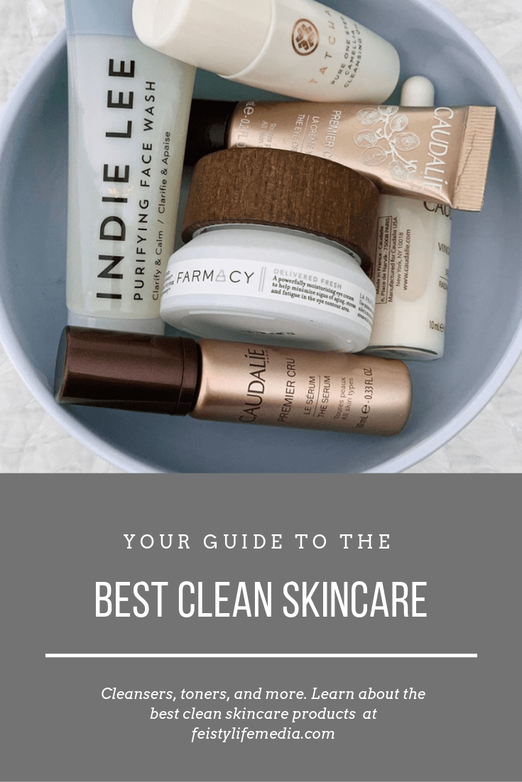Clean Beauty is taking over and we are here for it!  If you are new to clean beauty or if you\'ve already made the transition, you are going to want to see this list of the best clean skincare products. #cleanbeauty #cleanskincare