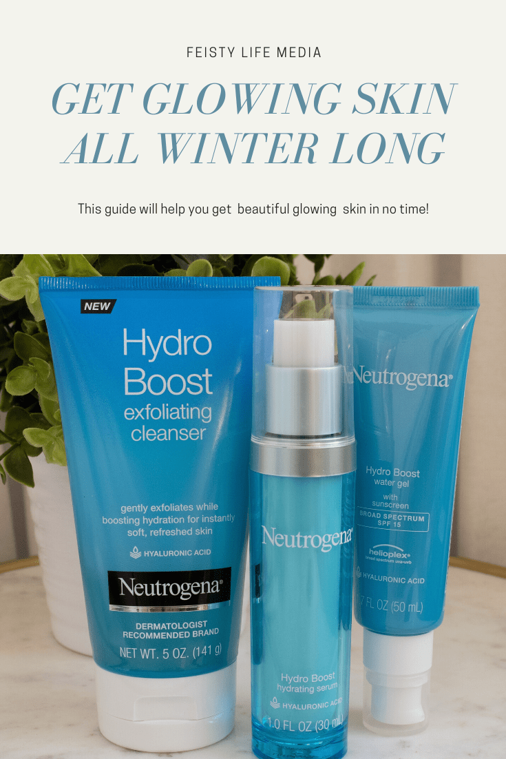 #ad Glowing skin isn\'t just for summer. Get glowing skin all winter long with the right products and routine. #Neutrogena #HydroBoost #NeutrogenaHydroBoost