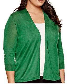 Green 3/4 Sleeve Cardigan