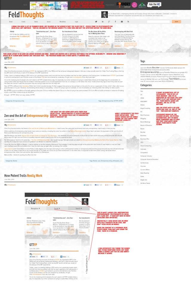 Feldthoughts feedback