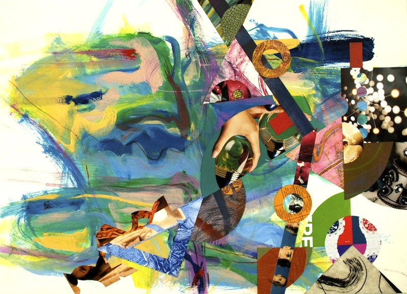 #1259 Springtime Suite 1, acrylic painting on paper with collage, 22x30_, 2012 copy sm