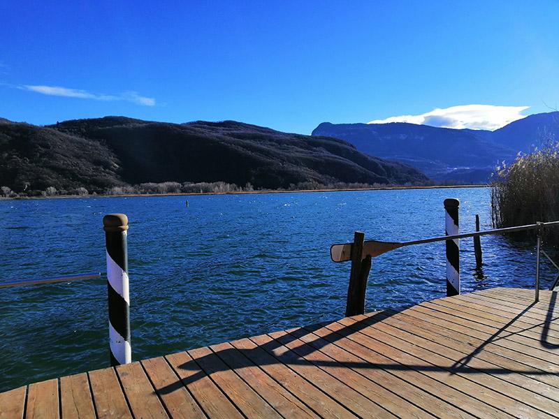 Privatstrand am Kalterer See