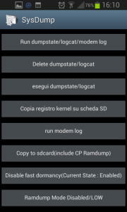 Spazio Archiviazione insufficiente. Cliccare su Delete dumpstate/logcat