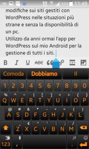 Modificare un post con l'app per WordPress