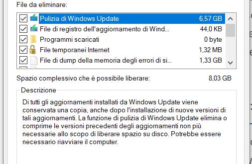 Liberare Spazio su Windows 7,8 e 10