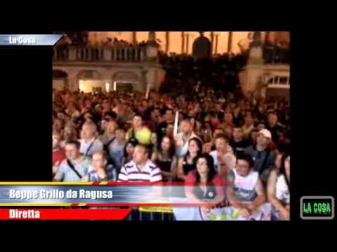 : Beppe Grillo con Federico Piccitto (M5S) al ballottaggio a Ragusa