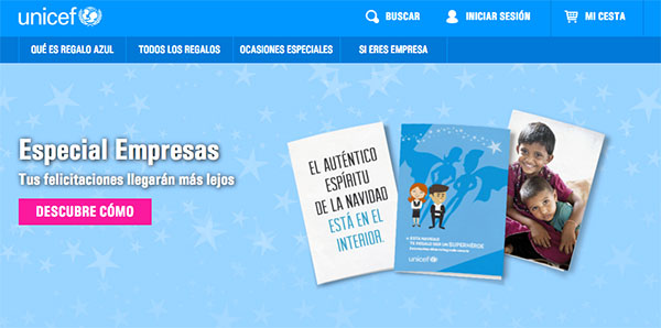 Tarjetas de navidad solidarias de UNICEF