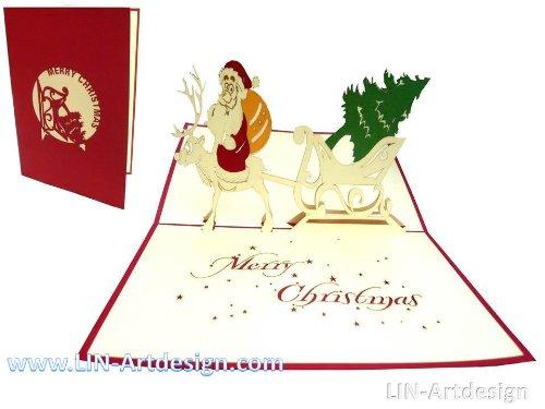 tarjeta navideña santa claus original