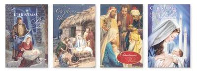 Felicitación de navidad con motivos religiosos