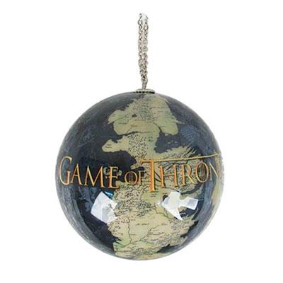 Bola de navidad juego de tronos con mapa