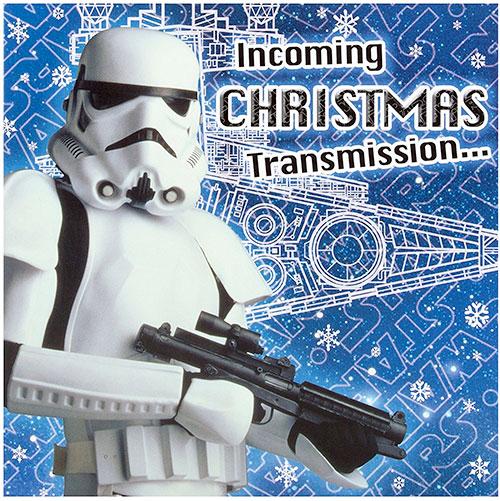 Postal de navidad ejercito galactico star wars