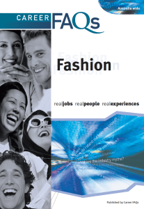 You know the information's gotta be good when the cover reflects the fashion industry so well.