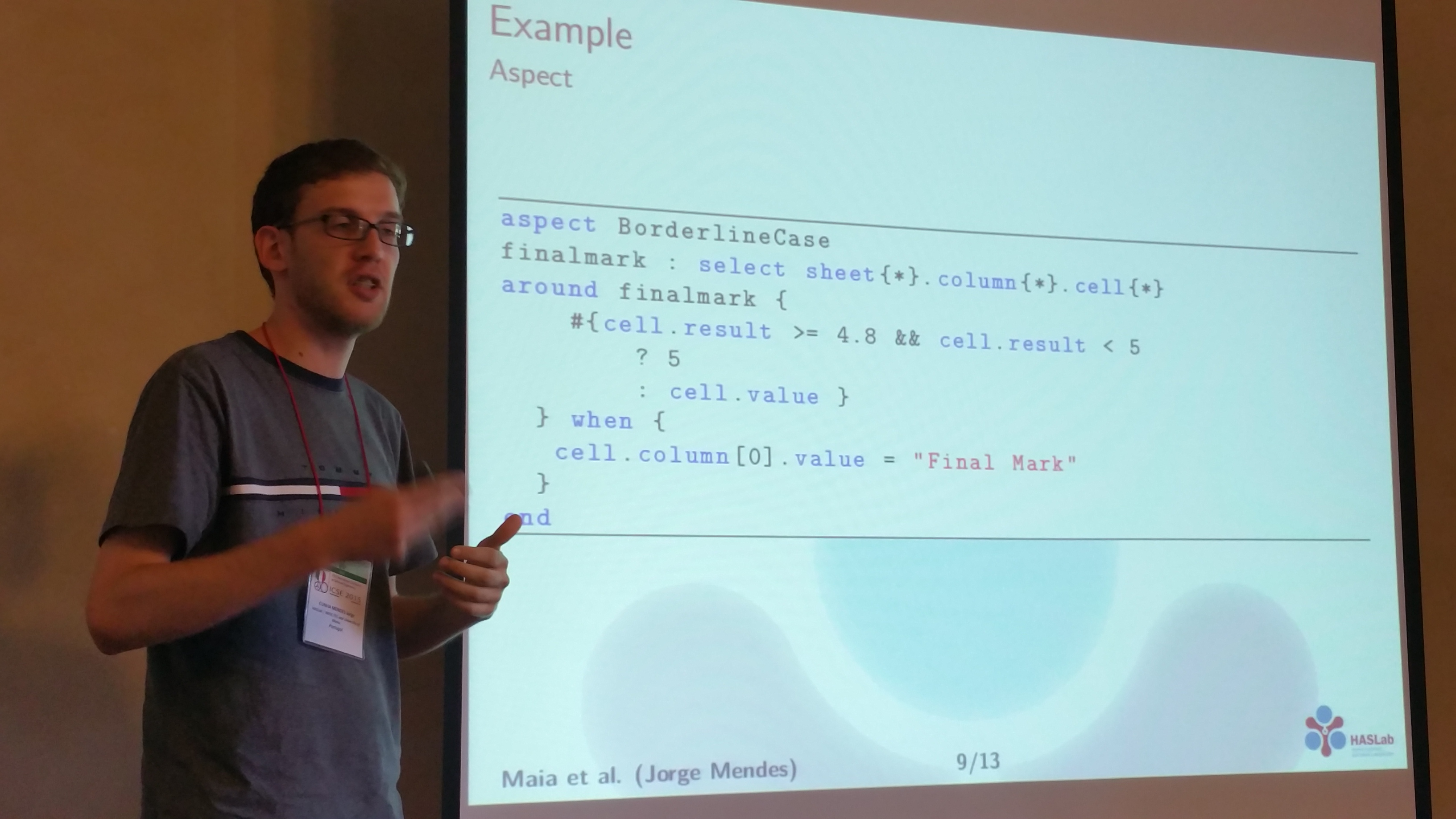Towards The Design And Implementation Of Aspect Oriented Programming For Spreadsheets Jorge Mendes