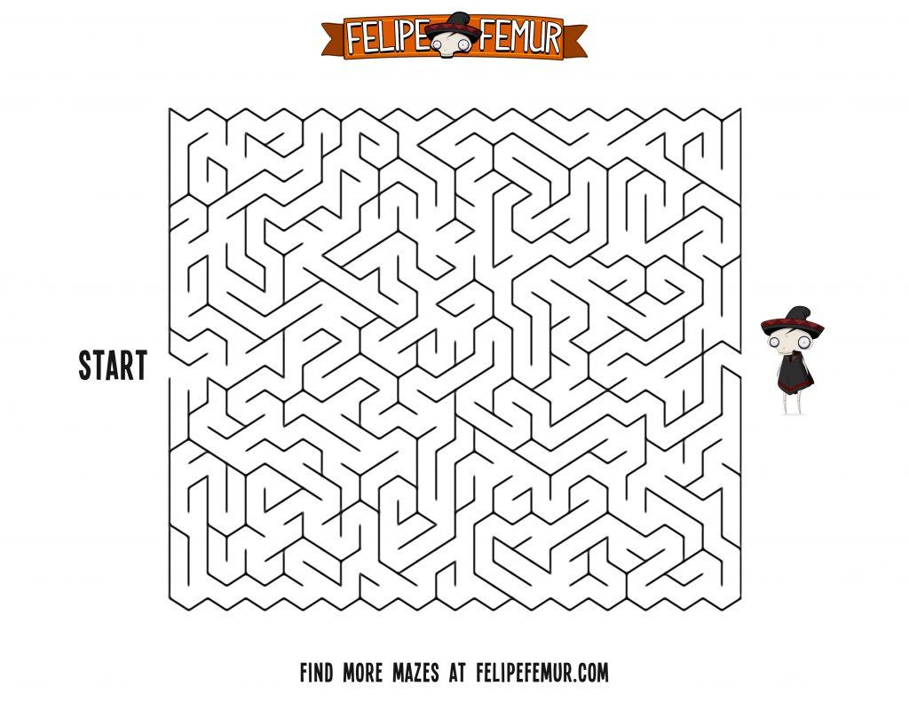 Free Maze Printout For Kids Square Maze 3 Felipe Femur