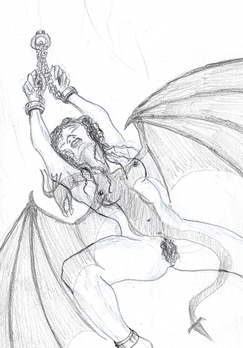 The Dragon Accepts Her Sacrifice Sketch