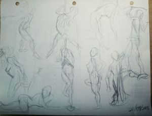 Gesture Sketches from 2013