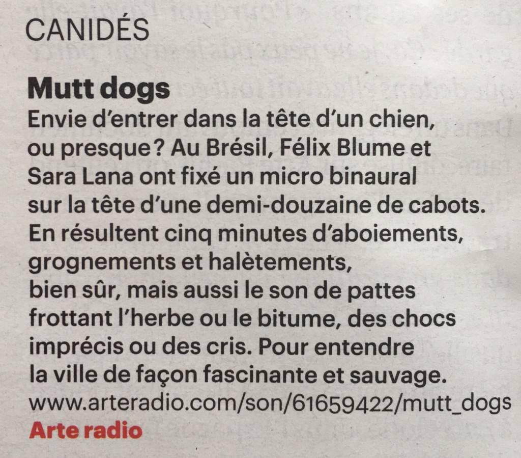 Télérama - Mutt Dogs (détail)