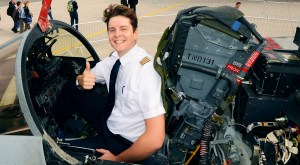 Felix Gottwald in the cockpit of a Tornado