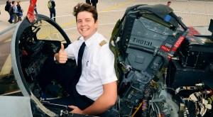 Felix Gottwald in the cockpit of a Tornado