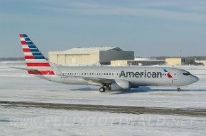 American Airlines - Boeing 737-800 - N894NN at Detroit Metro Airport DTW during snow