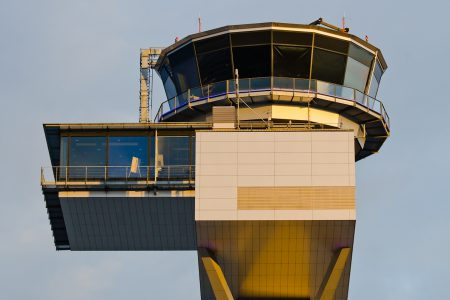 Frankfurt Airport Air Traffic Control Tower - top