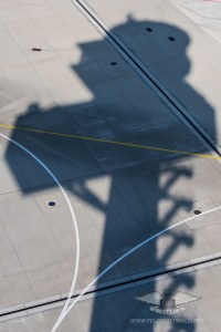 Frankfurt Airport Air Traffic Control Tower - shadow
