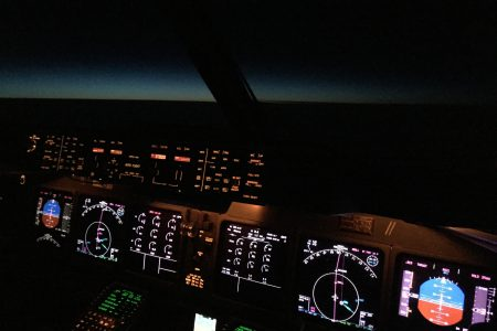 Cockpit over the North Atlantic