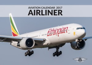 AIRLINER Aviation Calendar 2017 front cover