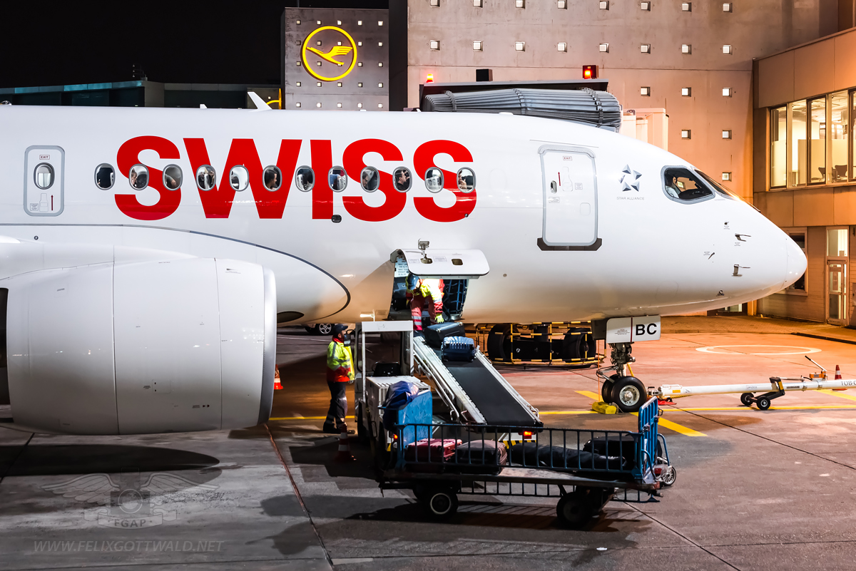 Swiss CS100 HB-JBC Frankfurt - 2017-01-03 07