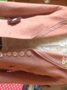 A charity shop jacket enhanced.