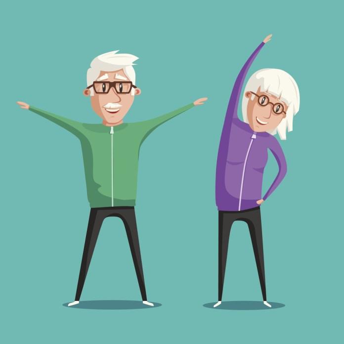 Exercícios para manter o corpo ativo na terceira idade sem sair de casa