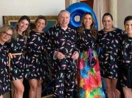 Sílvio Santos completa 90 anos com festa do pijama