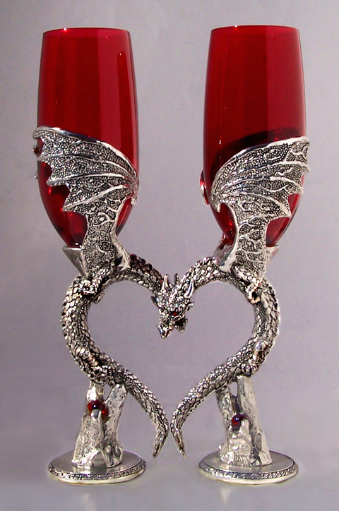 Fellowship Foundry Dragon Heart Wing Glasses