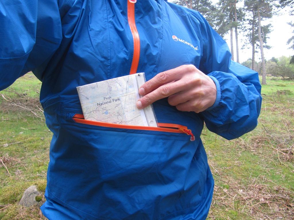 Handy zip for map & compass