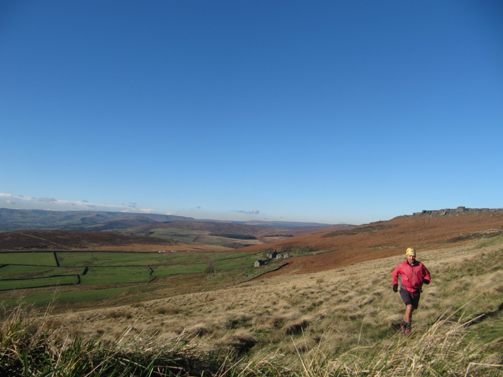 fell running under blue skies