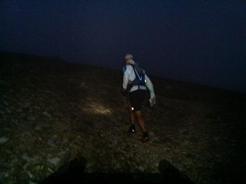 on leg 4 in the dark