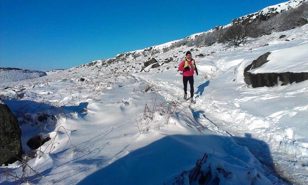 winter running in the Peak District