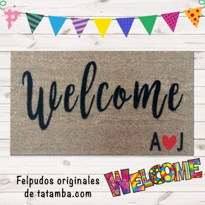 Felpudo Welcome Iniciales