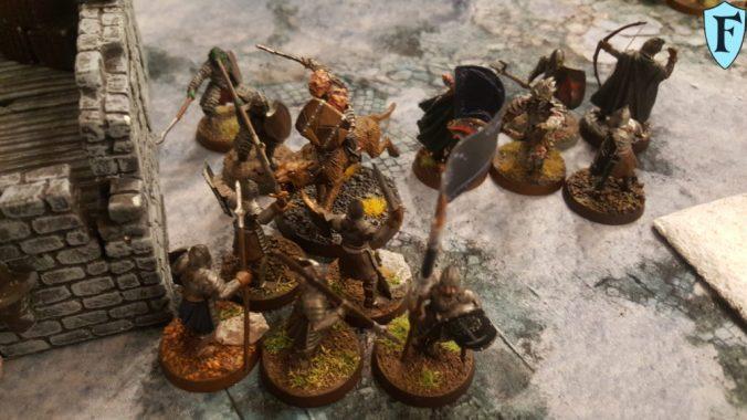 Berittener Gothmog attackiert Krieger von Minas Tirith
