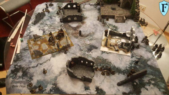 Die Truppen sammeln sich und es entsteht eine Schlachtlinie