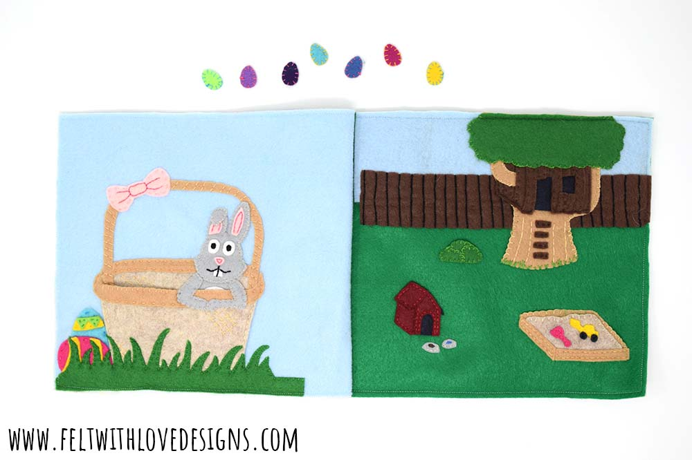 Free pattern: Easter quiet book pages from felt