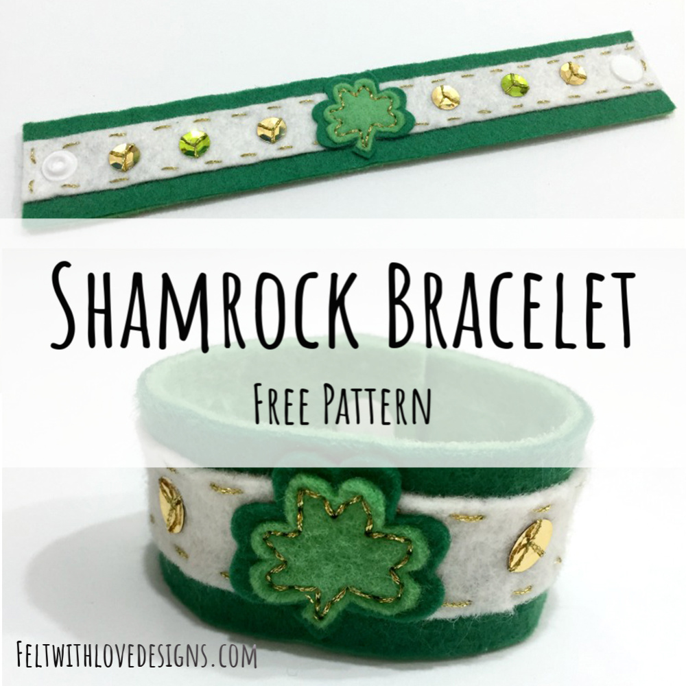DIY sewing tutorial: St Patrick's Day cuff bracelet