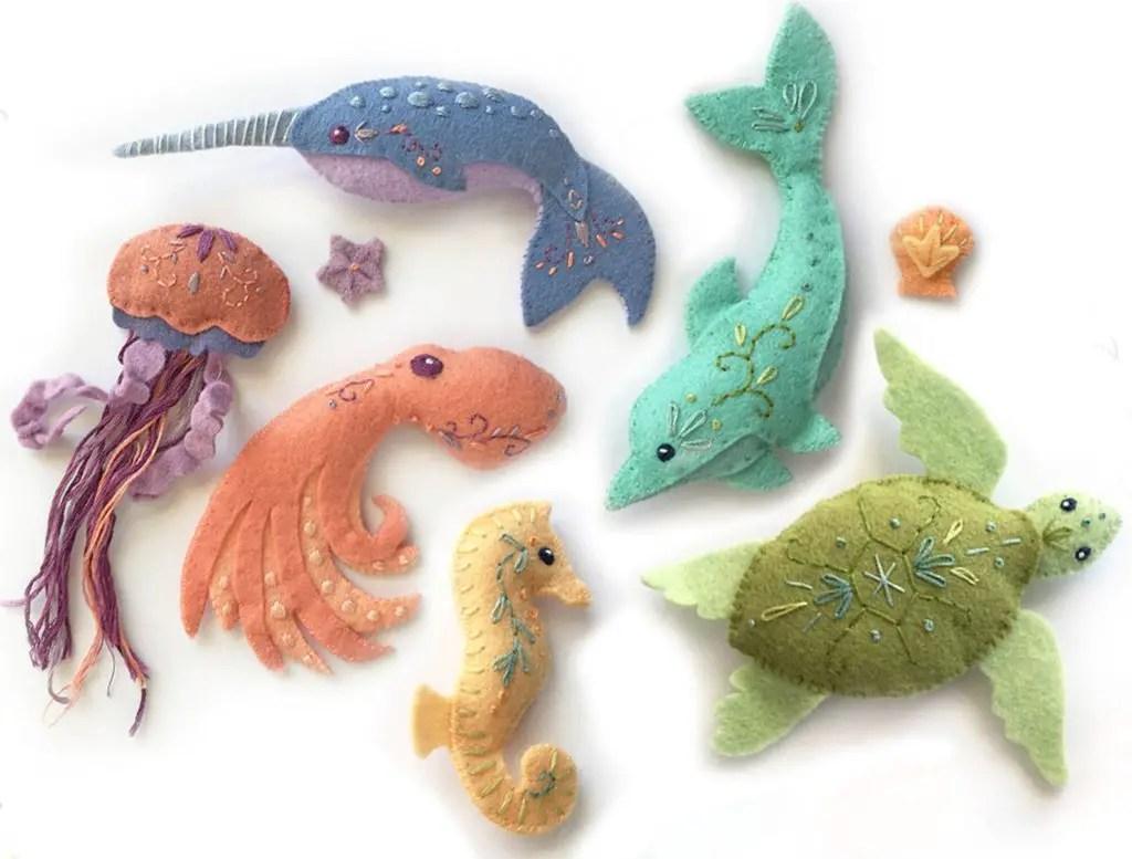 Ocean Animal Softies Sewing Patterns