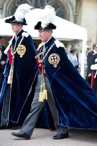 Queen Leads Order Of The Garter Service