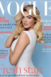 Kate Upton looks natural on the Vogue UK cover