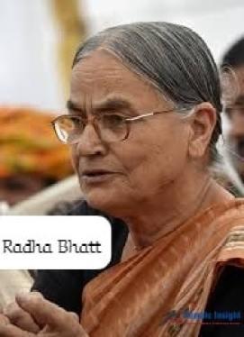 Radha Bhatt- One Of The Leading Indian Female Environmentalists
